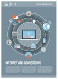 Internet en netwerken royalty-vrije illustratie