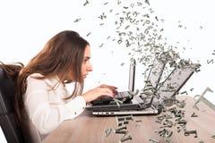 Internet en sociale netwerkverslaving royalty-vrije stock afbeeldingen