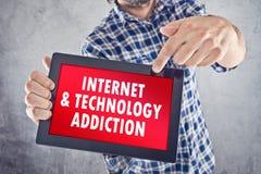 Internet en Technologieverslaving royalty-vrije stock afbeelding