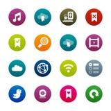 Internet en wedsites pictogrammen – Kirrkle-reeks Vector Illustratie