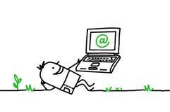 Internet et liberté Images libres de droits