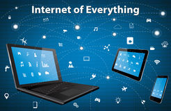 Internet of everything concept Royalty Free Stock Photo