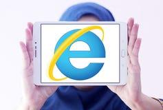 Internet Explorer浏览器商标 免版税图库摄影