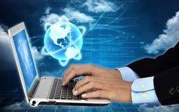 Internet für Geschäft Stockfoto