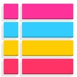 Internet-Farbknopf der flachen leeren Ikone leerer Stockbild