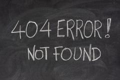 Internet-Fehler 404 - Datei nicht gefunden Stockbild