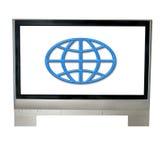 Internet Fernsehapparat stockbilder