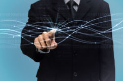 Internet fiber optics Concept Stock Photo