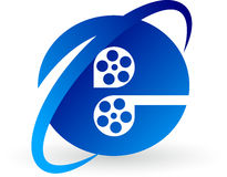 Internet film logo Royalty Free Stock Images