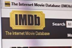 Internet-Filmdatenbank Lizenzfreie Stockbilder