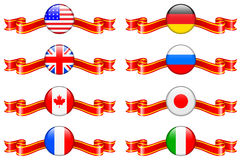 Internet Flag Buttons Collection Royalty Free Stock Image