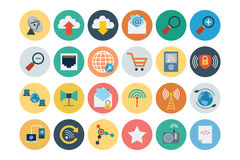 Internet Flat Vector Icons 5 Stock Photo