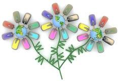 Internet flowers Stock Image