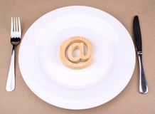 Internet for Food Stock Photo