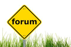 Internet forum concept Stock Images