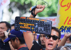 Internet freedom law protest in Manila, Philippines Stock Images