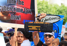 Internet freedom law protest in Manila, Philippines Stock Photography