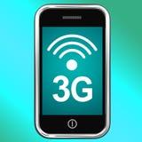 Internet 3g collegato sul telefono cellulare Fotografie Stock Libere da Diritti