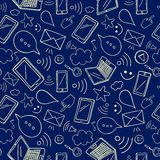 Internet and gadgets  seamless background. Royalty Free Stock Image