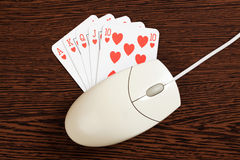 Internet gambling Stock Photography