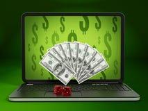 Internet gambling Stock Images