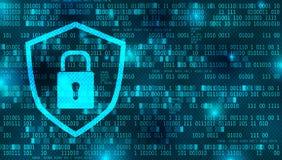 Internet of gegevensbeveiligingachtergrond vector illustratie