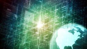 Internet-gegevenswetenschap en groot gegevensconcept royalty-vrije stock afbeeldingen