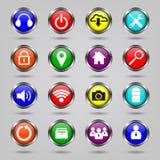 Internet, Geplaatste de pictogrammen van de Website Royalty-vrije Stock Fotografie
