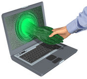 Internet-Geschäfts-Abkommen stock abbildung