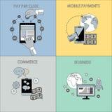 Internet-Geschäfts-und Zahlungs-Konzepte lizenzfreie abbildung