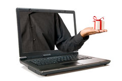 Internet-Geschenk lizenzfreie stockfotos