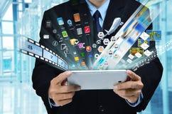 Internet-Geschäfts-Reihe Stockbild