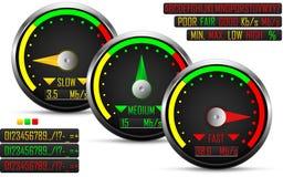 Internet-Geschwindigkeitstestmeter lizenzfreie abbildung