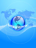 Internet global illustration stock
