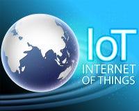 Internet global de la conexión de las cosas en todo el mundo divide conce en zonas libre illustration