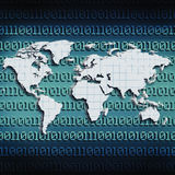 Internet global de transmissions Images libres de droits