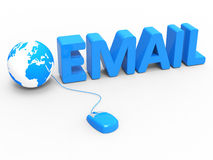 Internet Global Means World Wide Web And Communicate Stock Images