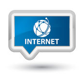 Internet (global network icon) prime blue banner button Royalty Free Stock Photography