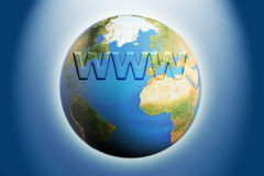 Internet globe Stock Photo