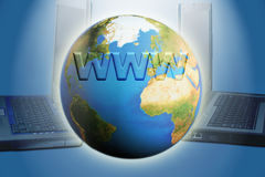 Internet globe Stock Images