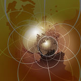 Internet Globe. A globe illustration background on internet access