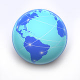 Internet globe. Globe with internet connection lines Royalty Free Stock Image
