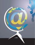 Internet in globe Royalty Free Stock Photos