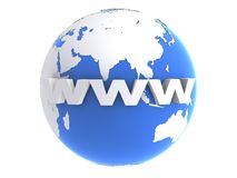 Internet and globe Stock Photos