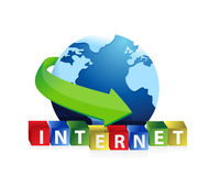 Internet globe illustration design Stock Photos