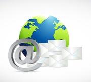 Internet globe mail concept illustration Stock Photography
