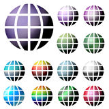 Internet Globes. An Illustration of Colorful Internet Globes Stock Photo