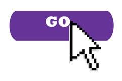 Internet go button and cursor Stock Photo