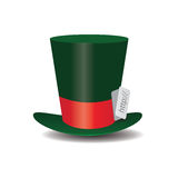 Internet green Hat Mad Hatter Stock Image