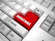 internet guzik klawiatura Fotografia Stock